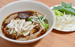 Thai chicken noodle soup Royalty Free Stock Photo