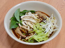 Thai chicken noodle soup Royalty Free Stock Photography