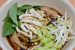 Thai chicken noodle soup Royalty Free Stock Photos