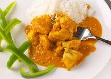 Thai Chicken peanut curry Royalty Free Stock Images
