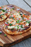 Thai Chicken Pizza Royalty Free Stock Photography