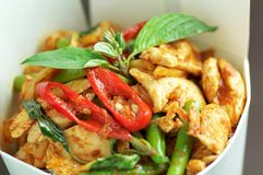 Thai chicken red curry Stock Photography