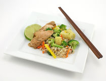 Thai chicken with rice Stock Image