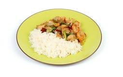 Thai chicken and rice Stock Photo