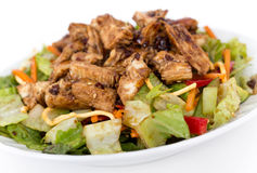Thai chicken salad. Delicious healthy thai style chicken salad bowl royalty free stock photo