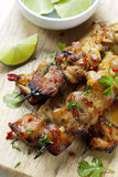 Thai Chicken Skewers stock images