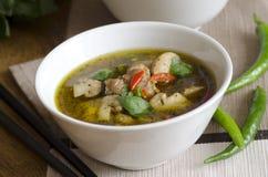 Thai chicken soup Stock Photos