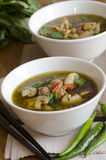 Thai chicken soup Royalty Free Stock Photography