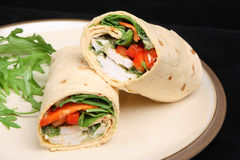 Thai Chicken Wrap Royalty Free Stock Image