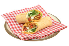 Thai Chicken Wrap Sandwich Stock Images