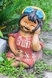 Thai children figure, Clay Thai Art Royalty Free Stock Photo