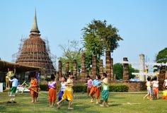 Thai Children folk games Royalty Free Stock Photos