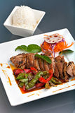 Thai Chile Basil Duck Dish Royalty Free Stock Images