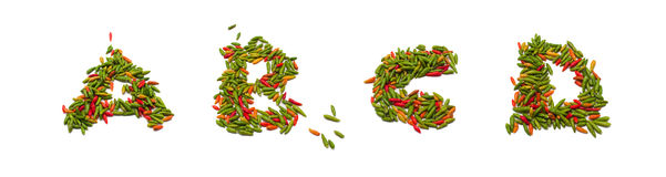 Thai chili alphabets Stock Photography
