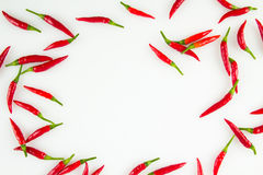 Thai chili peppers background Royalty Free Stock Photos