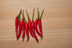 A Thai chili, It`s Hot, Spicy but is good for health and keep food more delicious. Chili from Thailand, It`s main ingredient for spicy Thai food, it make the Stock Photography