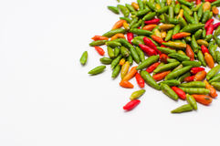 Thai chili spice. In group corner Royalty Free Stock Photography
