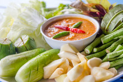 Thai chilli paste Royalty Free Stock Images