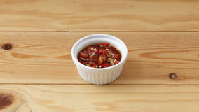 Thai chilli sauce. Thai chilli sauce that usually serve with Thai food royalty free stock images