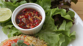 Thai chilli sauce. Thai chilli sauce that usually serve with Thai food stock images