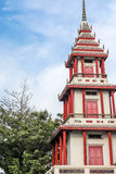 Thai China tower on blue sky background Stock Image