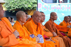 Thai Chinese buddhist monks Royalty Free Stock Images