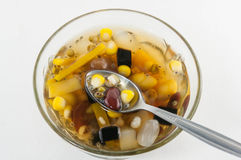 Thai - Chinese dessert ,Assorted Beans In Longan Syrup Stock Photos