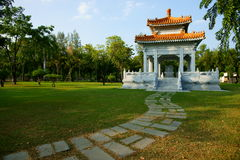 Thai-Chinese Friendship Pavilion. At Lumphini Park, Bangkok, Thailand Stock Photos