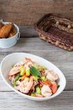 Thai Chinese kale with prawn salad Royalty Free Stock Photos
