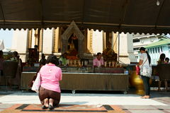 Thai Chinese People praying Royalty Free Stock Image
