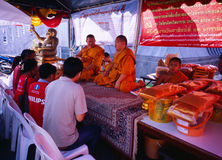 Thai Chinese People praying Royalty Free Stock Photography