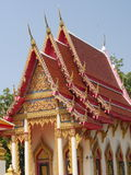 Thai church. Backgrounds, beautiful and art of culture stock photos