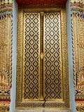 Thai church close door Royalty Free Stock Photo