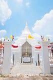 Thai church. Thai pagoda in Wat Poramaiyikawad, Koh Kret, Nontaburi Royalty Free Stock Photos