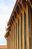 Thai church pillar. Line of Thai Buddha church pillar Stock Photos