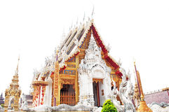 Thai church of temple Royalty Free Stock Photos