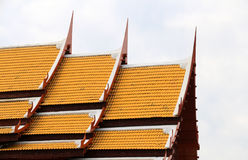 Thai church. Thai temple or Thai church of Buddha royalty free stock photos
