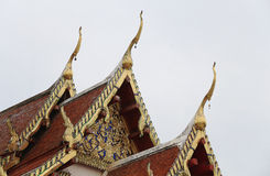 Thai church or Thai temple Royalty Free Stock Images
