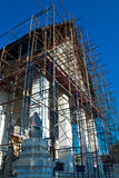 Thai church under renovation, Wat Nang Chee Chotikaram Stock Image