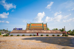 Thai church of. Wat Wang temple at Pattalung province Thailand, Travel royalty free stock image