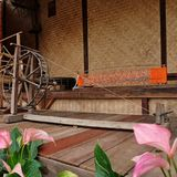 Thai classic silk machine Royalty Free Stock Photos