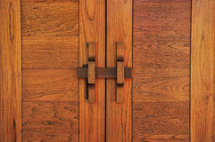 Thai classic wood door Stock Image