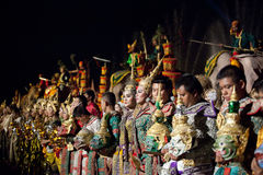 Thai classical masked ballet and Thai historical a Royalty Free Stock Images