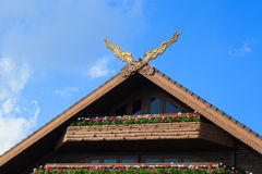 Thai Classical Northern Style Gable Royalty Free Stock Photo