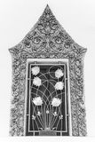 Thai classical style ancient art of window frame in temple Royalty Free Stock Photo