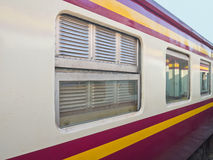 Thai classical train bogie Royalty Free Stock Photography