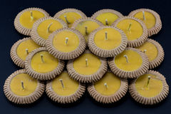 Thai clay candle Royalty Free Stock Photography