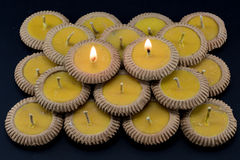 Thai clay candle Royalty Free Stock Images