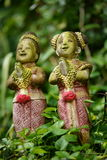 Thai Clay Figurines at Wat Saket compound. Royalty Free Stock Images