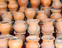 Thai clay pots Stock Images